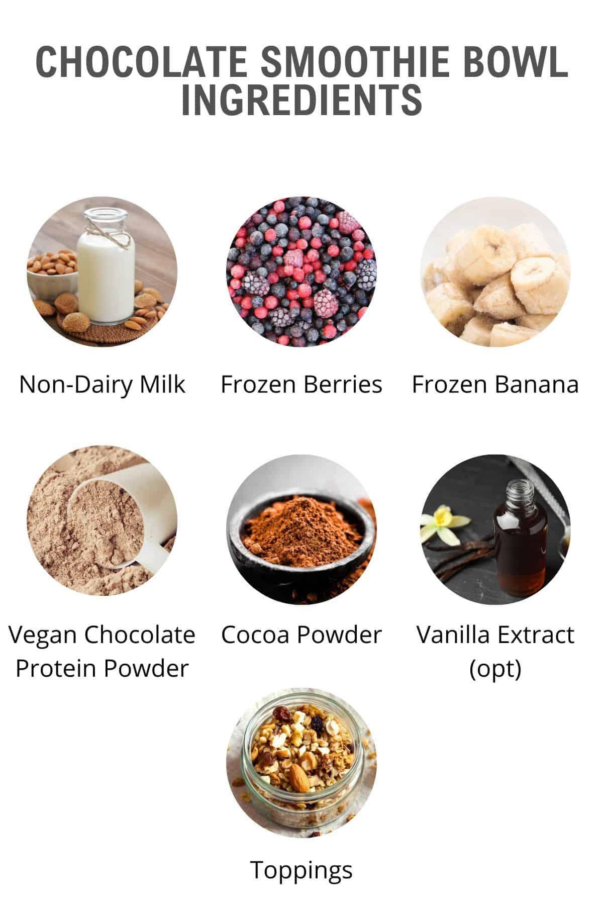 chocolate smoothie bowl ingredients