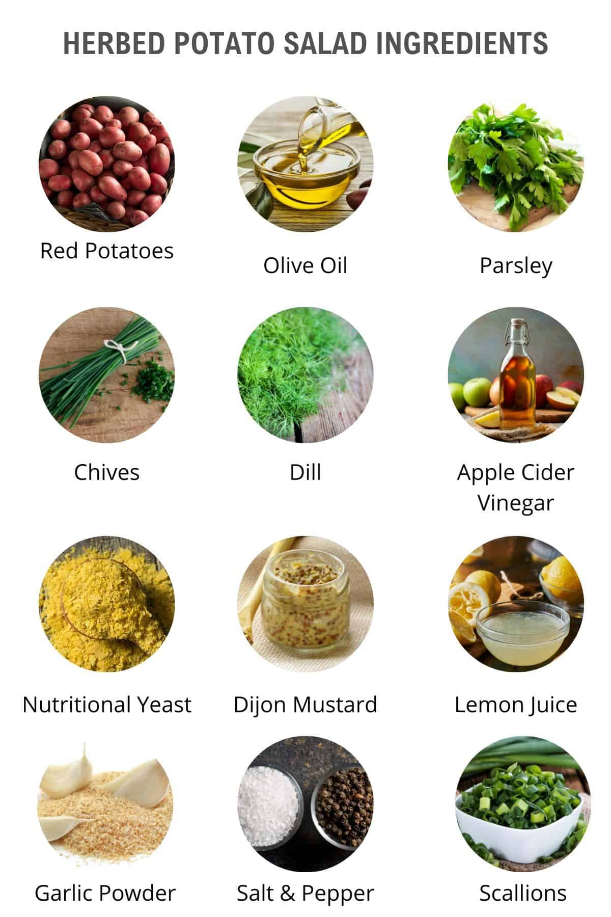 herbed potato salad ingredients