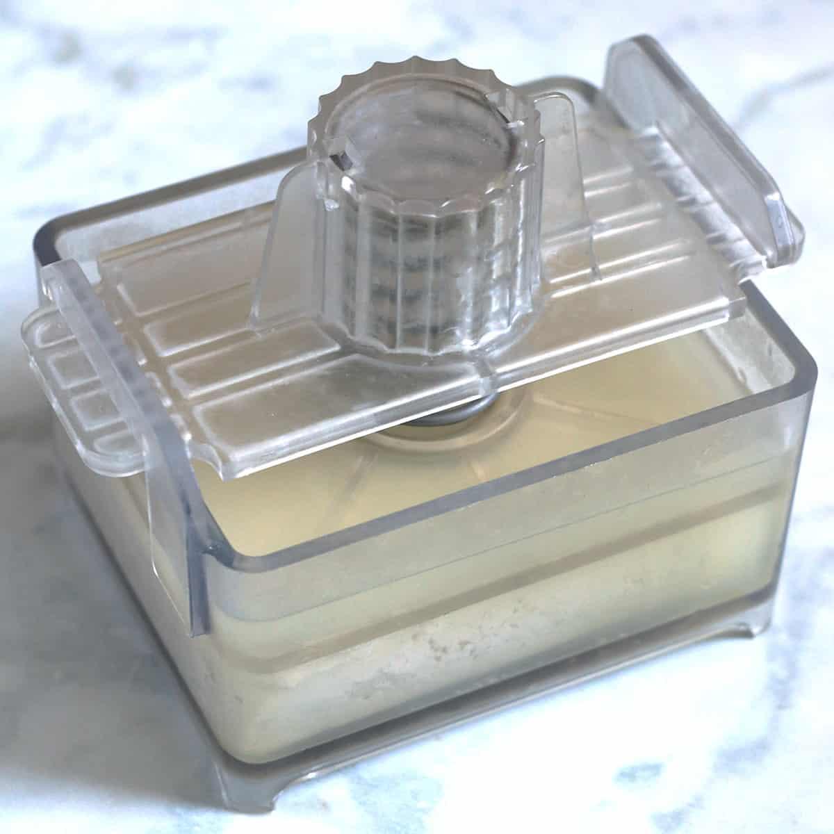 tofu in a tofu press