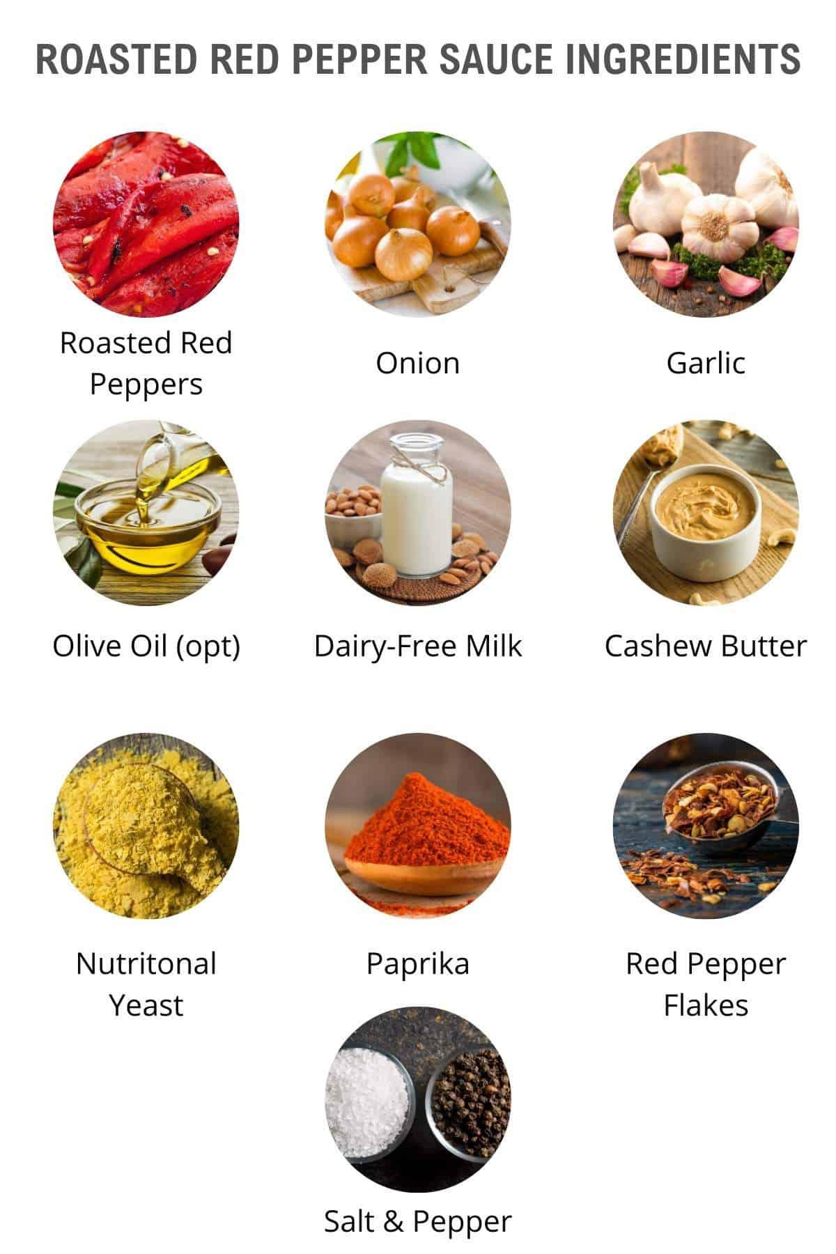 vegan roasted red pepper sauce ingredients