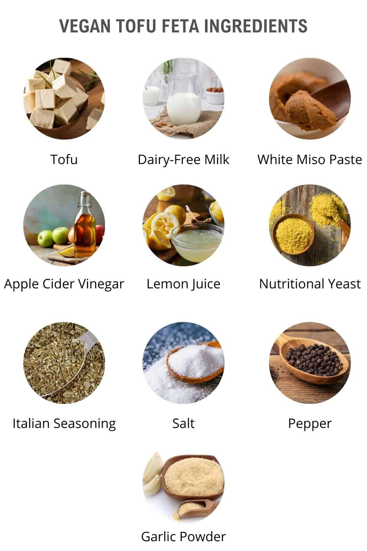 vegan tofu feta ingredients
