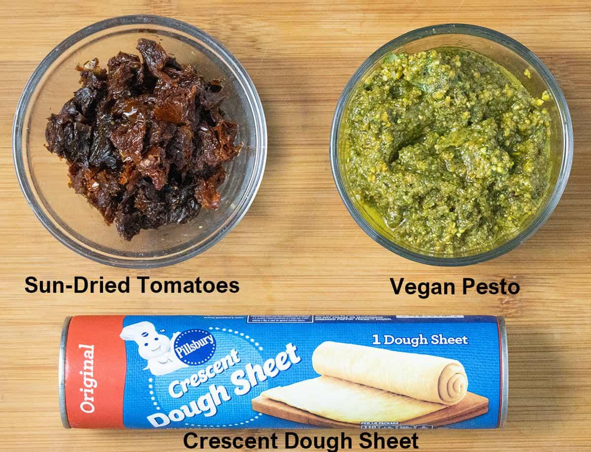 Christmas Pinwheel ingredients