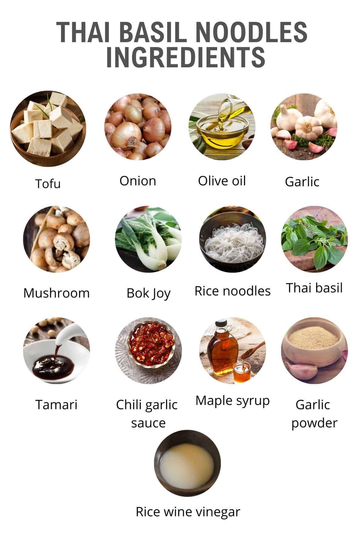 Thai basil noodle ingredients